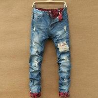 New Cotton Disel Jeans Men Jeans Homme Famous Brand Ripped Jeans For Men Biker Jeans Robin