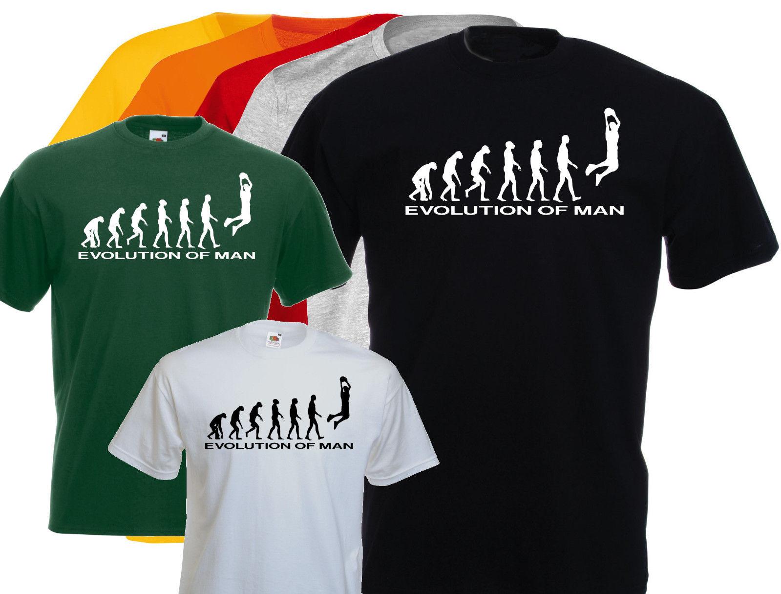 a7b3d1494c5f 2019 Men Hip Hop Fashion Casual Tee Shirt for Men T-Shirt Homme Evolution  of Man.. Basket Ball, Sporter Custom Made T Shirts