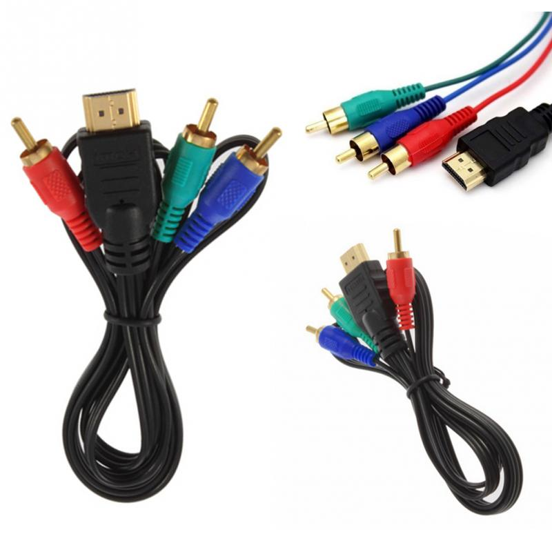 цена на 2018 new 1M HDMI To 3 RCA AV Audio Video Cable Cord Adapter Convert Cable For TV HDTV DVD 1080P