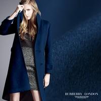 Limited Горячие распродажа, модная обувь пурпурно синий высокого класса серии Luxury кашемировая шерсть ткани для пальто tissu AU метр яркий ткань DIY