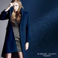 Limited hot sale fashion Purplish blue high end series luxury cashmere wool fabric for coat tissu au meter bright cloth DIY