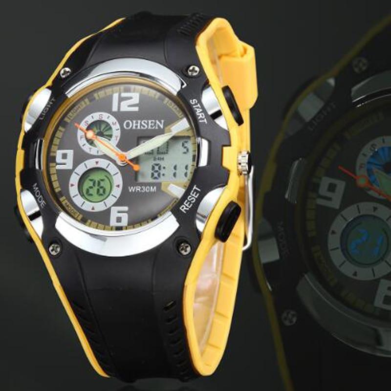 OHSEN Marca de Moda Reloj de Goma Hombres Deporte Impermeable 30 M - Relojes para hombres - foto 2