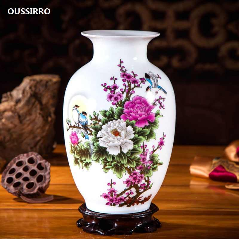 Oussirro Jingdezhen Ceramic Vases Pottery Decoration Living