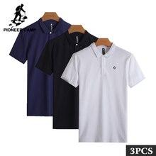 3a097d2696 Pioneer Camp 3 Pack promoción Polo hombres alta calidad 100% algodón para  hombre Polo camisa