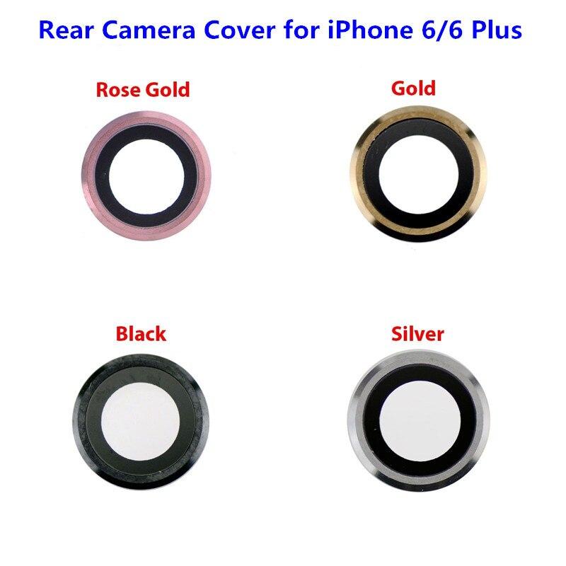 1 шт. новая крышка объектива камеры для iPhone 6 6s Plus 6plus задний тыловой объектив камеры стеклянная крышка Рамка Держатель Запасная часть