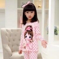 Winter Girls Casual Velvet Pajamas Kids Cotton Home Clothes Baby Girls Homewear Pijama Loungewear In House