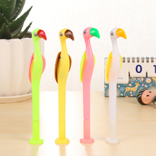 5 pcs/lot NNRTS Creative Stationery Lovely Animals Gel Pen Cartoon Flamingos Pens Blue Ink 0.5mm Student School Supplies