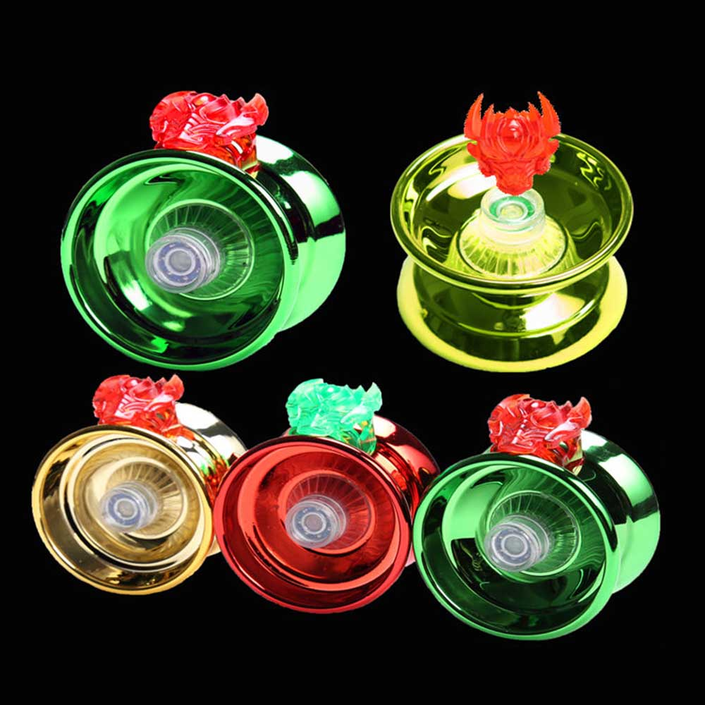 4 Colors Magic Yoyo Responsive High speed Aluminum Alloy Yo yo CNC Lathe with Spinning String for Boys Girls Children Kids