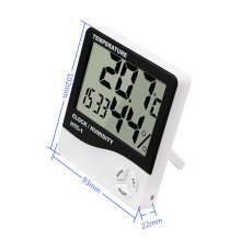 Indoor Room HTC-1 LCD Electronic Temperature Humidity Meter Digital Thermometer Hygrometer Weather Station Alarm Clock uni t a12t digital lcd thermometer hygrometer temperature humidity meter alarm clock weather station indoor outdoor instrument