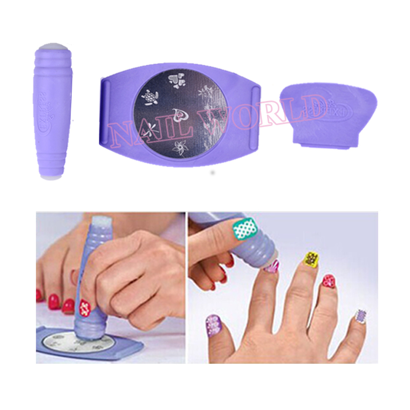 Nail Stamping Plates Konad Polish Stamper Ser Holder Set Tv Hot Salon Express Professional Stamp Templates Tools In Art From