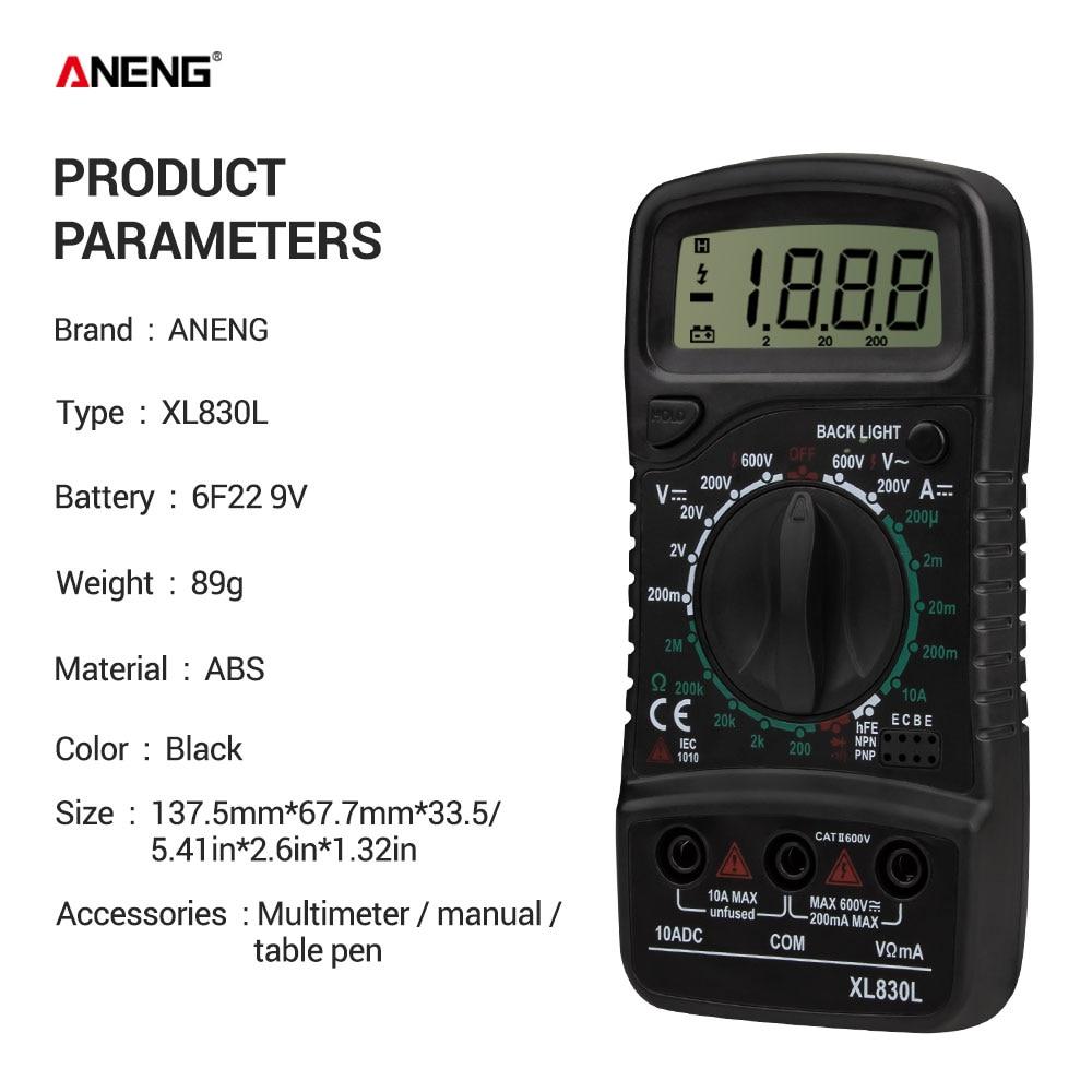 HTB198LGe8iE3KVjSZFMq6zQhVXaD ANENG XL830L digital multimeter esr meter testers automotive electrical dmm transistor peak tester metercapacitance meter