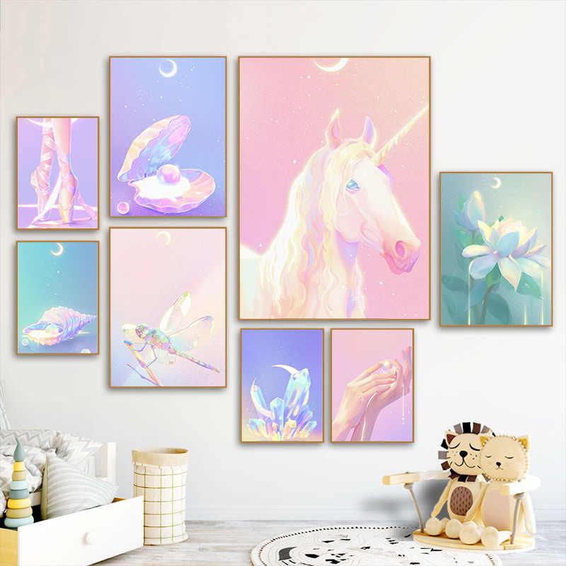 노르딕 스타일 홈 장식 캔버스 동물의 꽃 미학 HD 인쇄 포스터 회화 거실 벽 예술 모듈 그림