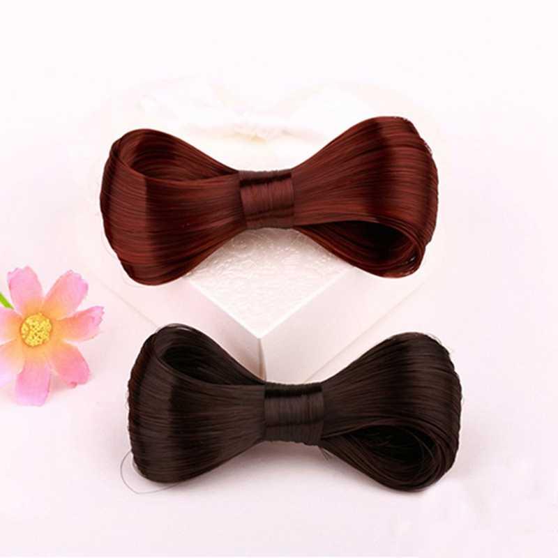 Высокое качество модные женские туфли девушки прическа Harajuku большой бант галстуки-бабочки парик шпилька Заколки для волос шпилька аксессуары для волос