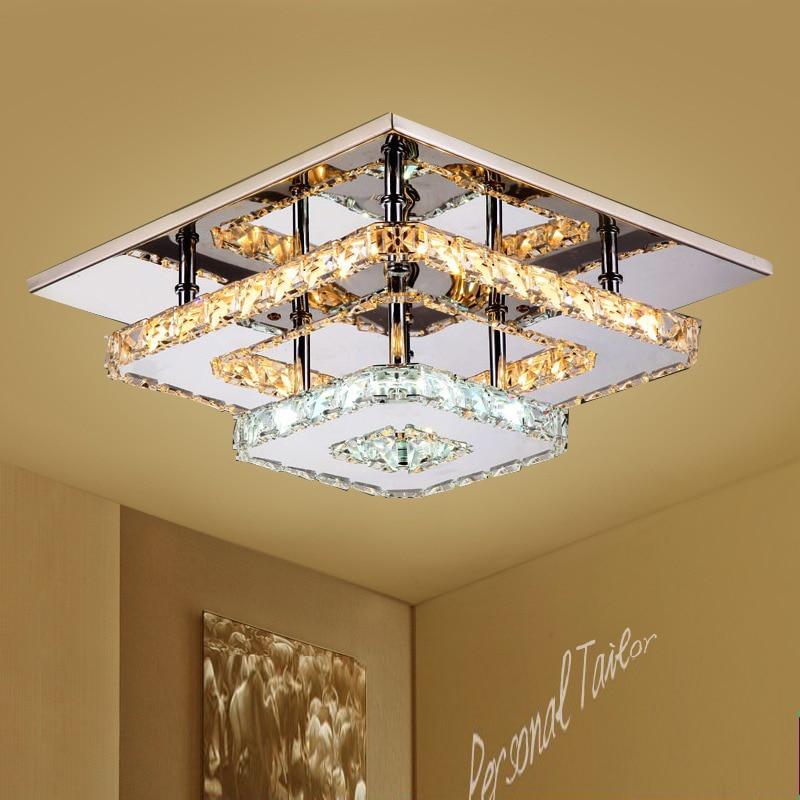 Image 2 - Modern Crystal LED ceiling light Fixture For Indoor Lamp lamparas de techo Surface Mounting Ceiling Lamp For Bedroom-in Ceiling Lights from Lights & Lighting