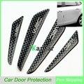 Новое Прибытие 1 Компл. Мода Черный Углеродного Волокна Двери Автомобиля Защитной Наклейки, Двери автомобиля Боковой Край Литье Защиты Доска