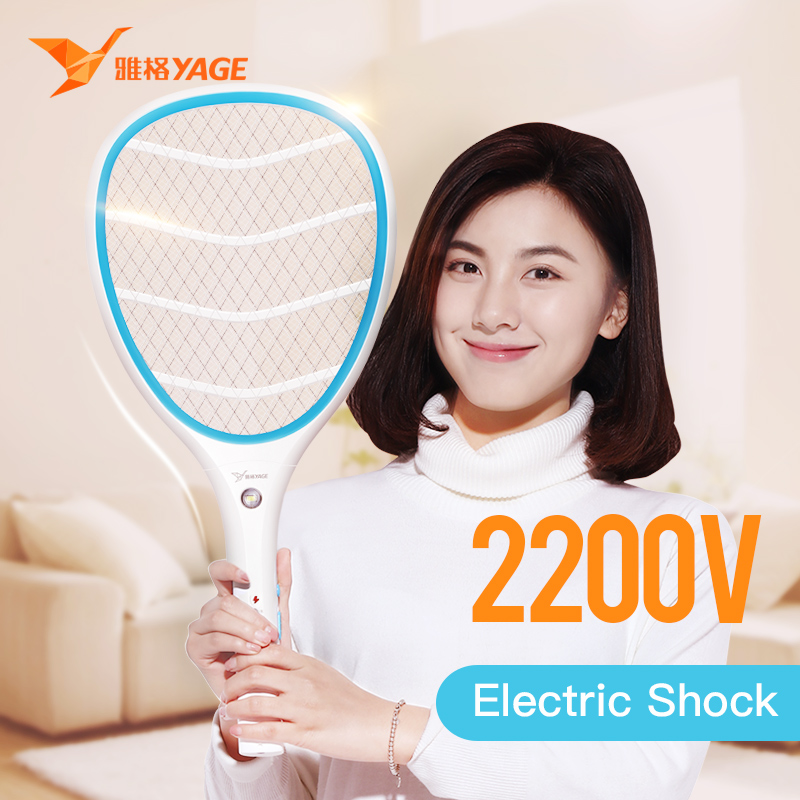 YAGE Electric Mosquito Swatter Mosquito Killers Pest Control Bug Zapper Reject Racket Trap Home Tool 2200V Electric Shock 400mAhYAGE Electric Mosquito Swatter Mosquito Killers Pest Control Bug Zapper Reject Racket Trap Home Tool 2200V Electric Shock 400mAh