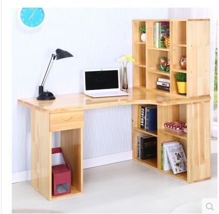 Livraison gratuite bureau en bois ordinateur de bureau coin bureau