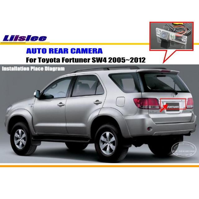 Araba arka kamera Toyota Fortuner için SW4 2005 ~ 2012/arka park kamerası/HD CCD RCA NTST PAL/ plaka ışık kam