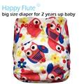 Happyflute pañal de bolsillo grande xl para 2 años bebé, suedecloth interior, pul, tamaño ajustable, ajuste de la cintura 36-58 cm
