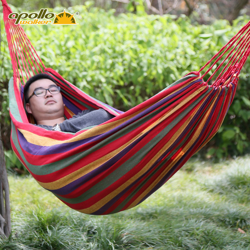 Personalized fashion single outdoor hammock 100x190cm