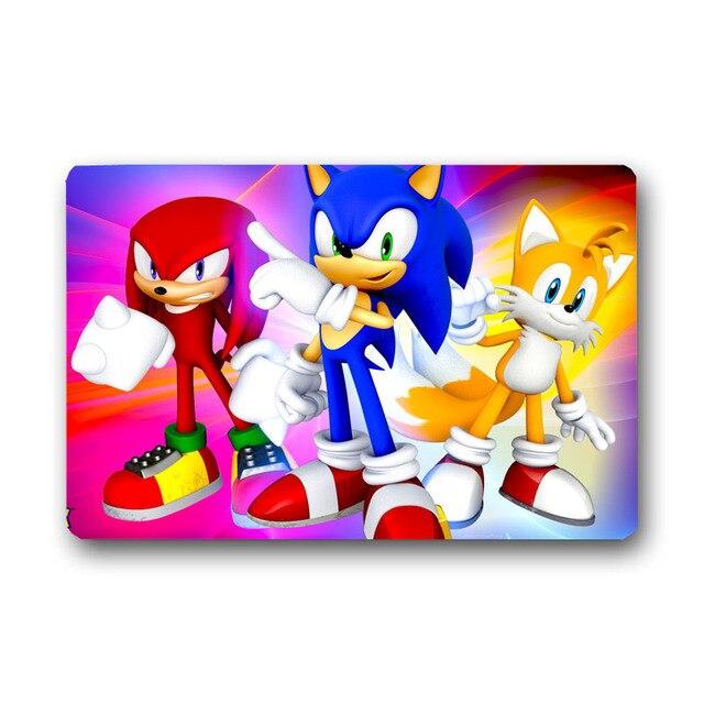 Floor Mat Carpet 3D Sonic the Hedgehog  Custom Anime Rug Doormat Door 004#