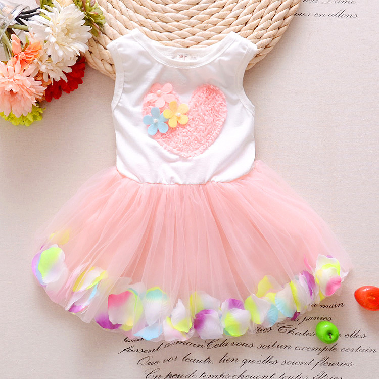 2017 New Fashion Trends Summer Baby Girl Love Sleeveless Dress