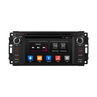 Quad Core Android 4 4 Car Audio DVD Player With GPS For Jeep Commander Compass Grand