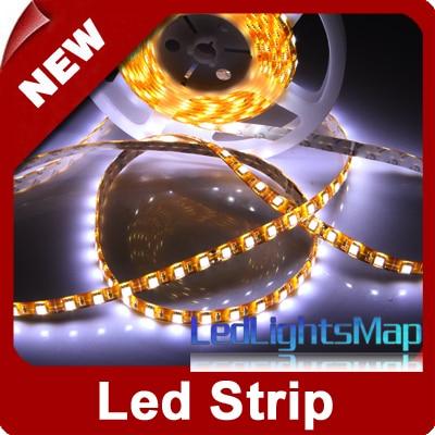 5M 5050 SMD LED Strip Light 300 leds White Waterproof + EMS DHL Free Shipping 100M/lot