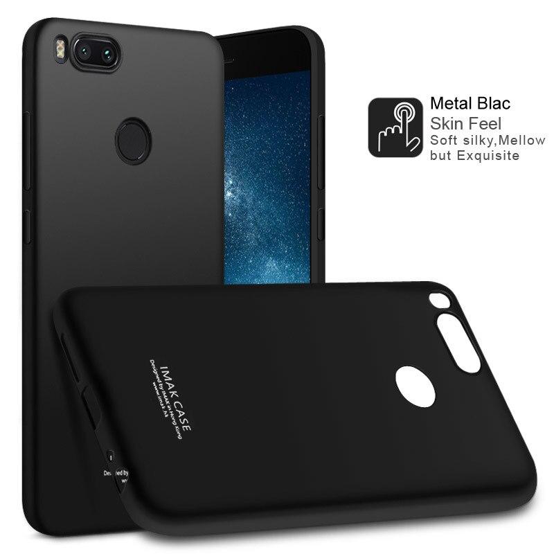 reputable site 257ff 30979 US $6.17 5% OFF|IMAK Xiaomi Mi A1 Case Xiaomi Mi A1 MiA1 Mi5X Mi 5X Cover  Shockproof Silicone Soft Transparent TPU Case With Screen Protector-in ...