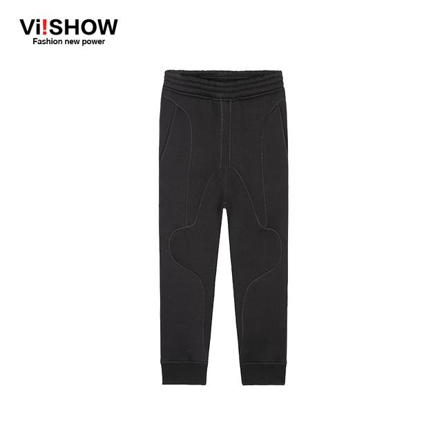 ViishowVIISHOW Nuevos Hombres Largos de Algodón Negro Flojo Ocasional Estilo de La Calle Masculinos Elástica Pantalones Harén Hombres Pantalones KC60561