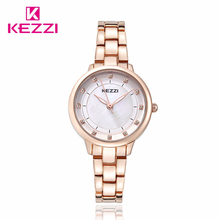 KEZZI Top Brand Fashion Watch Designed For Women Simple Luxury Bracelet Elegant Dress Watch Ladies Popular