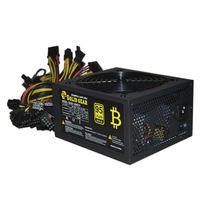 1800W ATX Modular Mining Power Supply For ETH BTC Rig Ethereum Coin Miner Supports 6 Graphics
