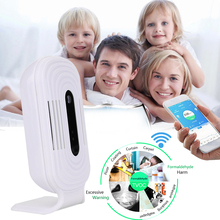 PM 2.5 USB Air Quality Detector Household Smart Monitor Durable Practical Portable Mobile Phone White