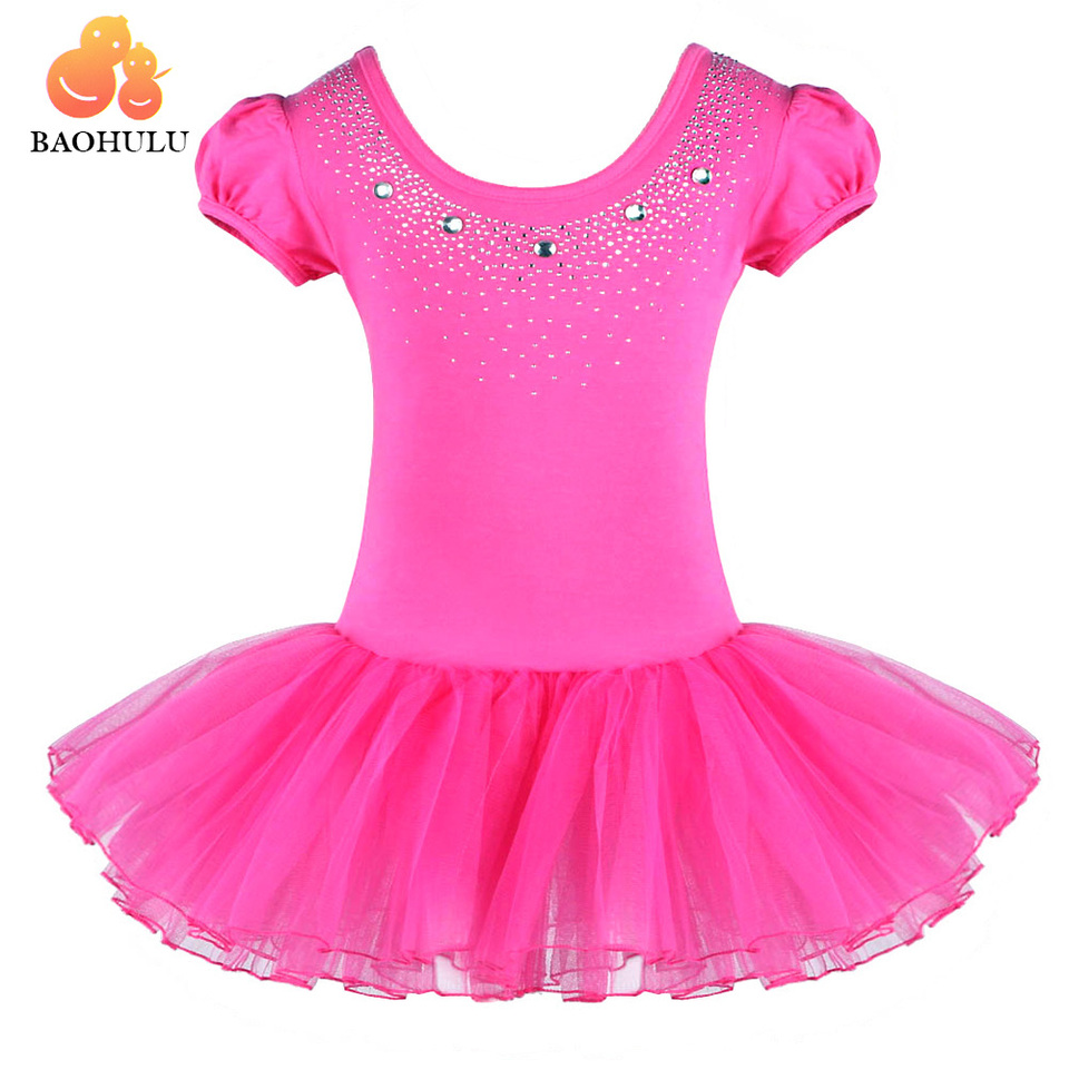 BAOHULU Girls Ballet Dance Leotards Tutu Skirted Dress Camisole Ballerina Dancewear