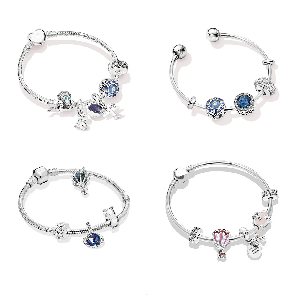 2019 Summer Collection New Style 925 Sterling Silver Holiday Gift for Girls and Women Fits Pan Bracelet Bangle DIY Jewelry