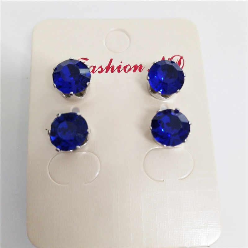 2018 new Luxury brand fashion jewelry Austrian colors crystal earrings for women stud earrings for girls birthday gift