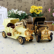 Vintage Retro Metal Bubble Car Model Car Figurines Home Decor Miniatures Handicraft Furnishing Articles Christmas Kids Gift