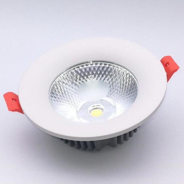 Produit dusine Offre Spéciale Coquille blanche 15W Dimmable Chaud Froid Led COB Blanche Vers Le Bas DE LA LUMIÈRE de plafond de Lépi Led ENCASTRÉ Lampe AC85-265V CE