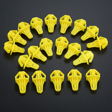 20PCS Auto Fastener Car Styling Bumper Moulding Clips Nylon 91578-T0A-003 Yellow Fits For Honda CR-V