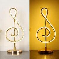 Modern Nordic Led Table Lamp Aluminum Gold Silver Table Lights Luminaire Abajur Desk Light For Living