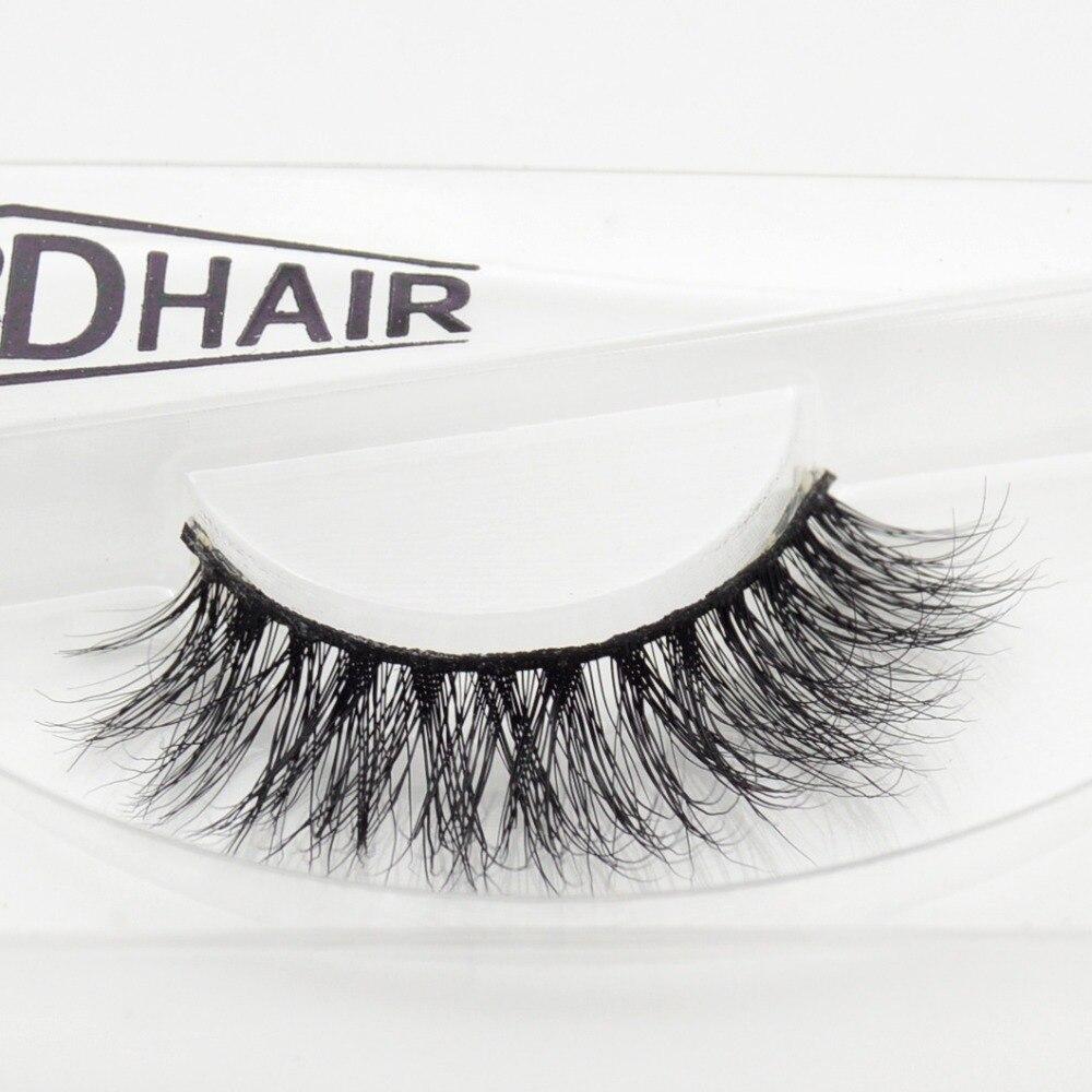 Visofree 3D Mink Eyelash  Real Mink Handmade Crossing Lashes Individual Strip Thick Lash Fake Eyelashes A15