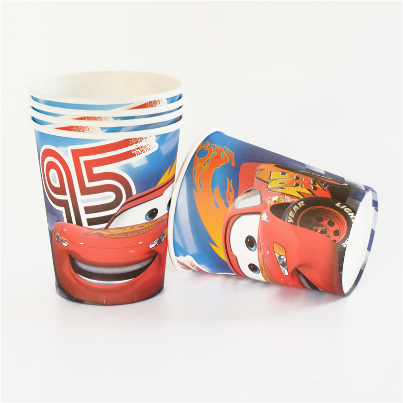 10pcs/lot paper cup Cars Kids Birthday party supply event party supplies party Decoration Set