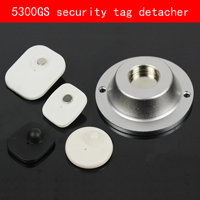 Frosted Aluminum shell sliver security tag detacher 5300GS eas magnet tag remover for Clothing mall Supermarket hybon golf detacher 15000gs universal magnet tag remover eas security detacher removedor de alarmas clothing detachers