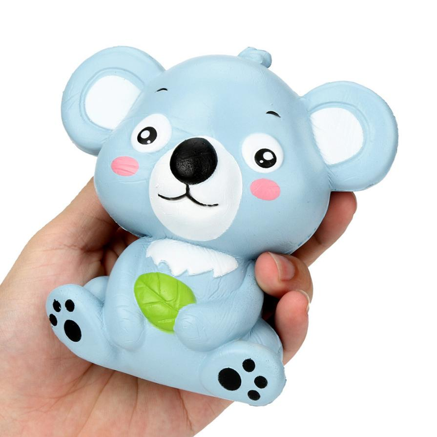 12cm Cute Koala Cream Scented Squishy pakket Toy Slow Rising Squeeze Strap Kid interesting toys Gift