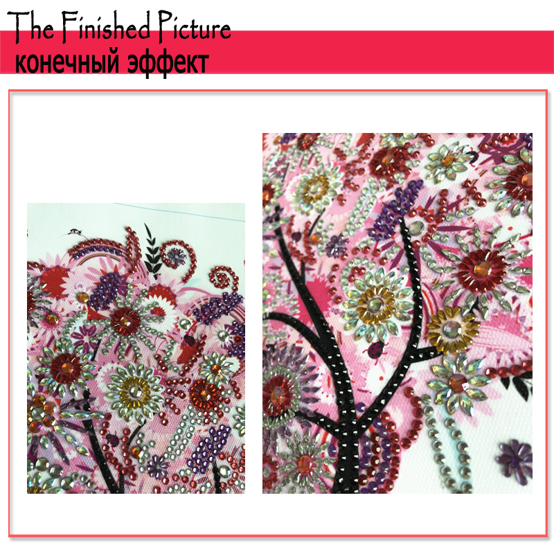 RUBOS DIY 5D Diamond Embroidery Colorful Tree Butterfly Bead Diamond Painting Cross Stitch Pearl Crystal Sale Hobby Gift Decor (19)