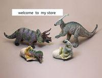Pvc איור דינוזאור הסימולציה בעלי החיים משולש סגן הדרקון דרקון ונקבה דגם צעצוע ביצת דינוזאור 4 יח'\סט סרטן