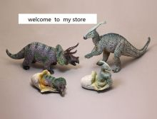 pvc figure Simulation animal dinosaur triangular dragon vice crab dragon and female dinosaur egg toy model 4pcs/set