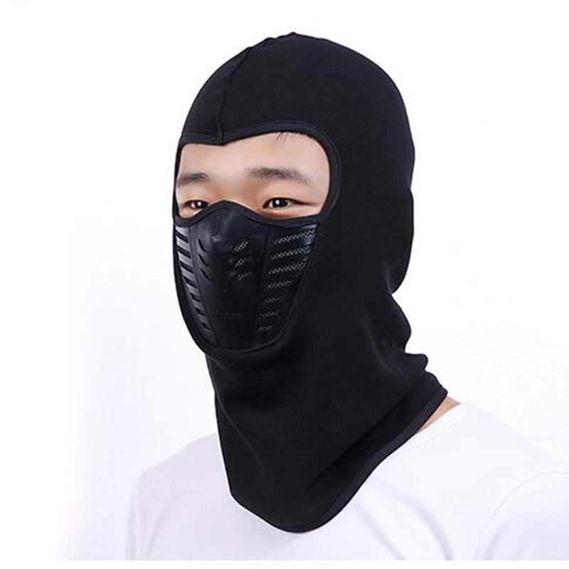 2017 men women Winter Warm Motorcycle Wind proof Face Mask Neck Helmet beanies Cap Sports Bicycle Thermal Fleece Balaclava Hat