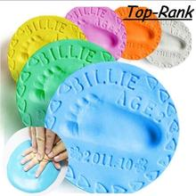 2pcs lot Baby Care Air Drying Soft Clay Baby Handprint Footprint Imprimt Kid Casting DIY Tool