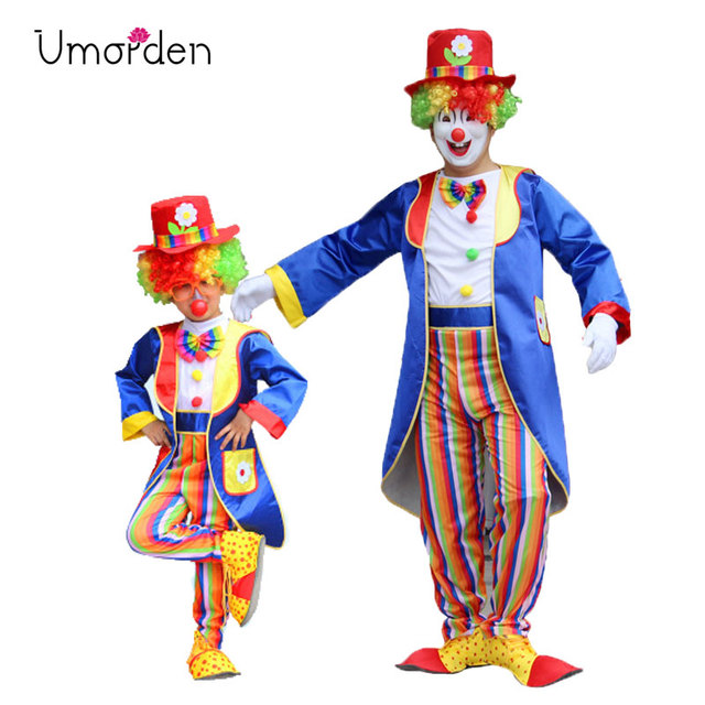 Halloween Carnival Party Costumes Dad and Son Matching Circus Clown Costume Cosplay Clothes Set for Father  sc 1 st  AliExpress.com & Halloween Carnival Party Costumes Dad and Son Matching Circus Clown ...